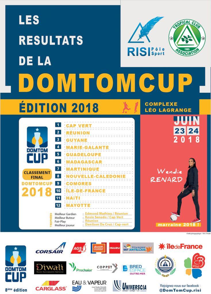 dom tom cup résultats 2018
